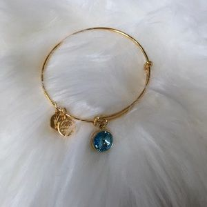 Aquamarine alex and ani bracelet